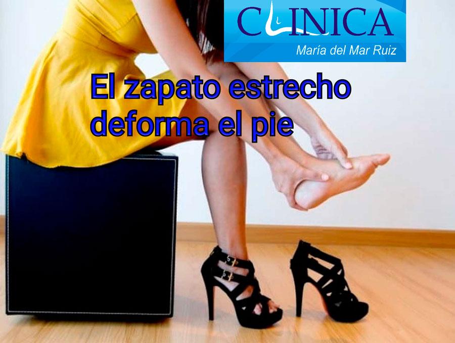 La compresión del pie con el calzado produce dolor